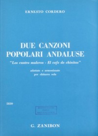 Due Canzoni Populari Andaluse available at Guitar Notes.