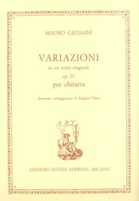 Variazioni, op.20(Chiesa) available at Guitar Notes.