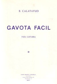 Gavota facil available at Guitar Notes.