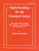 Sight Reading Levels I-III available at Guitar Notes.