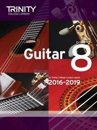 Guitar Exam Pieces Grade 8 2016-2019 available at Guitar Notes.