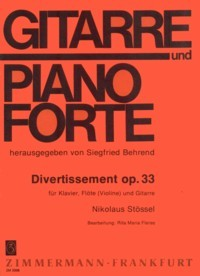 Divertissement, op.33 [Pf/Fl(Vn)/Gtr] available at Guitar Notes.