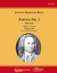 Partita no.1 BWV825 (Reichenbach) available at Guitar Notes.
