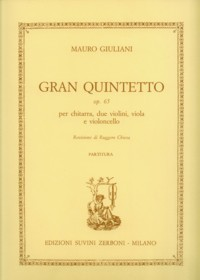 Gran Quintetto op.65 [score] [2Vn/Va/Vc/Gtr] available at Guitar Notes.