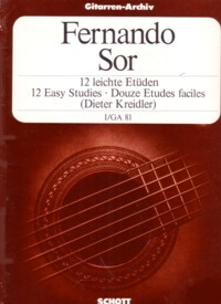Easy Studies, op.35/1(Kreidler) available at Guitar Notes.