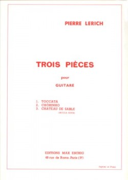 Trois Pieces: 1.Toccata available at Guitar Notes.