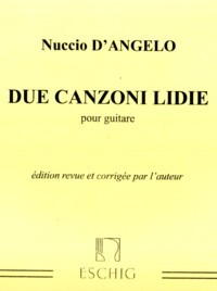 Due Canzoni Lidie available at Guitar Notes.