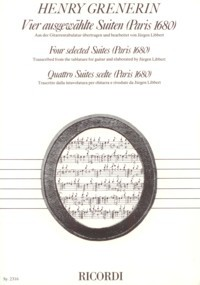 Four Selected Suites, 1680(Libbert) available at Guitar Notes.
