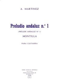Preludio andaluz no.1 available at Guitar Notes.