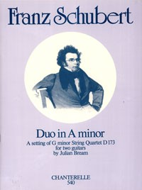 Duo in a minor, D.173(Bream) available at Guitar Notes.