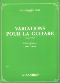 Variations, op.posth.(Gangi) available at Guitar Notes.