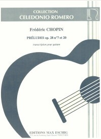 Two Preludes op.28(Romero) available at Guitar Notes.