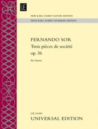 Trois pieces de societe op.36(New Karl Scheit Edition) available at Guitar Notes.