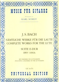 Suite in E, BWV1006a(Scheit) available at Guitar Notes.