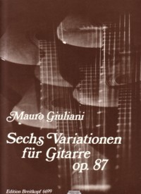 Six Variations, op.87(Meunier) available at Guitar Notes.