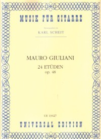 24 Etuden, op.48(Scheit) available at Guitar Notes.