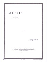 Ariette available at Guitar Notes.