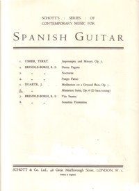 Meditation on a Ground Bass, op.5 available at Guitar Notes.