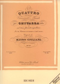 Variazioni, op.142 available at Guitar Notes.