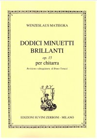 Dodici Minuetti Brillanti op.15 available at Guitar Notes.