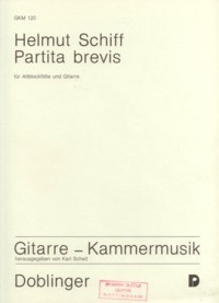 Partita brevis available at Guitar Notes.