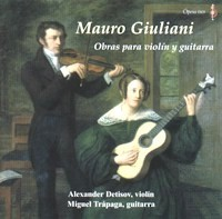 Giuliani: works for violin & guitar available at Guitar Notes.