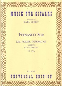 Les Folies d'Espagne, op.15a(Scheit) available at Guitar Notes.