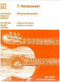 Missing Alexandra, ragtimes for guitar available at Guitar Notes.