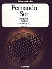 Allegetto and Waltz op.45 available at Guitar Notes.