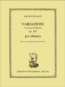 Variazioni su un tema di Handel, op.107(Chiesa) available at Guitar Notes.