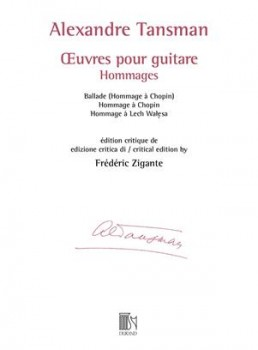 Oeuvres pour guitare: Hommages (Zigante) available at Guitar Notes.