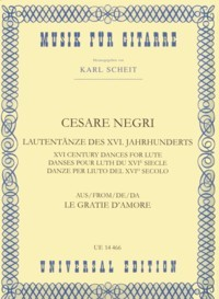 XVI Century Dances for Lute(Scheit) available at Guitar Notes.