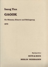 Gagok [Voc/Perc/Gtr] available at Guitar Notes.