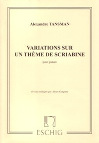 Variations on a theme of Scriabin available at Guitar Notes.
