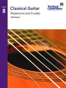 Classical Guitar Repertoire and Etudes 2018 Level 8 available at Guitar Notes.