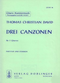 Drei Canzonen available at Guitar Notes.