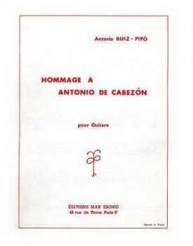 Hommage a Antonio de Cabezon available at Guitar Notes.
