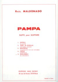 Pampa Suite no.2: Aire de Huella available at Guitar Notes.