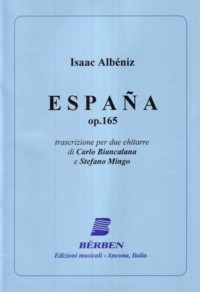 Espana, op.165 (Biancalana/Mingo) available at Guitar Notes.