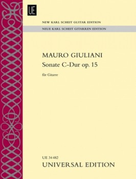 Sonata in C op.15 (New Karl Scheit Edition) available at Guitar Notes.