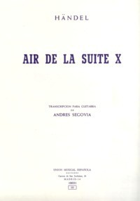 Air from Suite X(Segovia) available at Guitar Notes.