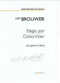Elegia por Cintio Vitier [2012] [Fl & Gtr] available at Guitar Notes.