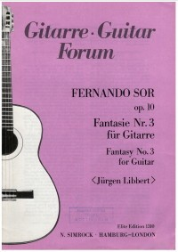 Fantasie no.3 op.10 (Libbert) available at Guitar Notes.