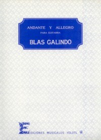 Andante y Allegro available at Guitar Notes.