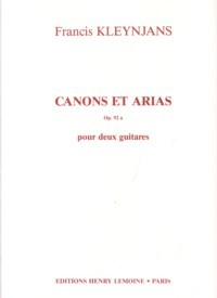 Canons et Arias, op.92a available at Guitar Notes.