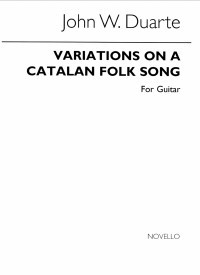 Variations on Catalan Folksong, op.25 available at Guitar Notes.