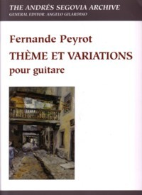 Theme et variations (Gilardino/Biscaldi) available at Guitar Notes.