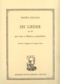 6 Lieder, op.89(Chiesa) available at Guitar Notes.