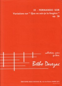 Variations, op.26 (Davezac) available at Guitar Notes.