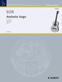 Andante largo op.5 available at Guitar Notes.